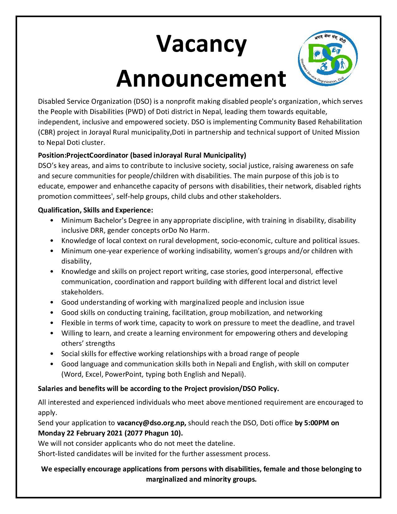 Vacancy  Announcement